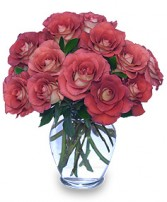 Autumn Adoration Vase of 'Leondis' Roses