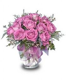 ROMANTIC STYLE ROSES Mauve Roses Arrangement