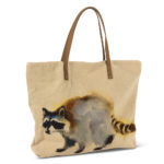 Raccoon Tote cotton and leather