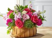 Radiance in Bloom Basket arrangement