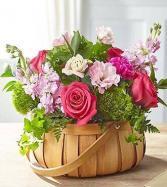 Radiance in Bloom Fresh cut basket