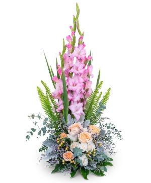 Radiant Faith Flower Arrangement in Nevada, IA | Flower Bed