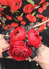 Radiant Red Wrist Corsage