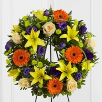 Radiant Remembrance Wreath SYMPATHY
