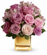 Radiant Romance Roses Metallic SILVER Cube