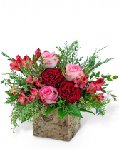 Radiant Rouge Flower Arrangement