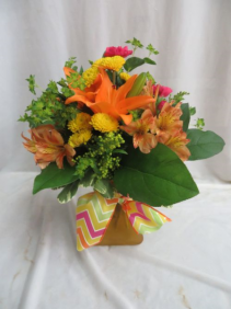 Radiant Sunshine Fresh Mixed Vased Arrangement