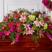 Radiant Tribute Casket Spray Sympathy