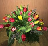 Radiant Tulips Vase of Tulips