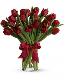 Radiantly Red Tulips Fresh Arrangement