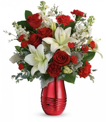 Radiantly Rouge Bouquet Floral Arrangement