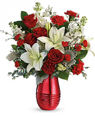 Radiantly Rouge Bouquet  Love and Romance