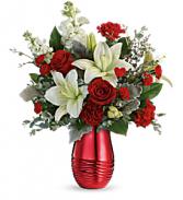 Radiantly Rouge Bouquet Teleflora