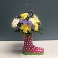 Rain Boot Fresh Flowers