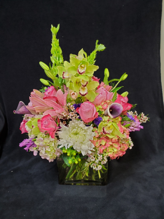 rainbow bash Vase Arrangement