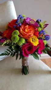 Rainbow Bridal Bouquet Clutch Bouquet