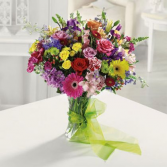 Rainbow Bright and Happy Flowers in a vase
