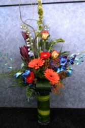 Rainbow Bright Vased Arrangement