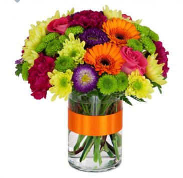 Rainbow Brights  Vase