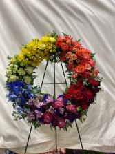 Rainbow Delight Fresh wreath