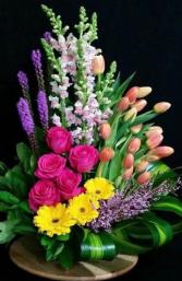 RAINBOW ELEGANT MIXTURE OF FLOWERS