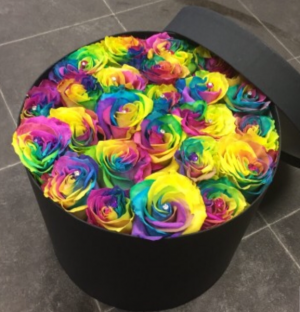 Rainbow hat box   in Ozone Park, NY | Heavenly Florist
