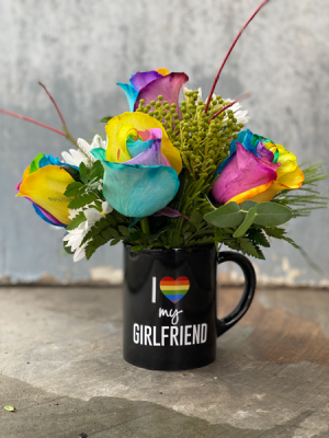 Rainbow Love  in Monmouth, OR   PETALS & VINES FLORIST