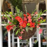 Rainbow Madness Silk Floral Door Basket
