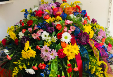 Rainbow Memories CASKET FLOWERS