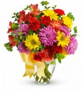 Rainbow of Colour Vase Arrangement