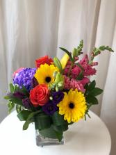Rainbow of Hope Vase Arrangement
