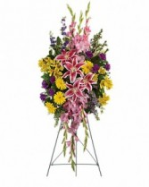 Rainbow of Remembrance Spray Sympathy Arrangement