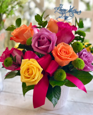 Rainbow of Roses  in Youngstown, OH | BLOOMING CRAZY FLOWERS AND GIFTS