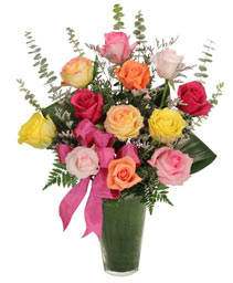 Rainbow of Roses Arrangement