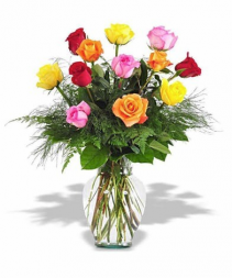 Rainbow Of Roses Colors may vary depending on availability