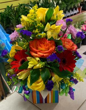 Rainbow Present Birthday in Brooklyn, NY | MARY'S FLORIST CORP.