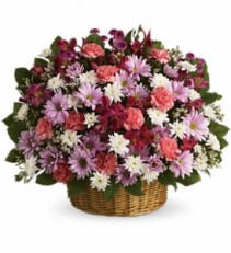 Rainbow Reflections Basket Fresh Floral Arrangement