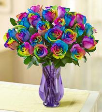 Rainbow Romance Vase arrangement