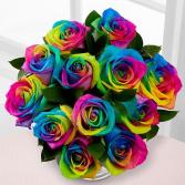 Rainbow Rose Bouquet Fresh Cut Bouquet