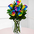 Rainbow Rose Bouquet Roses