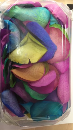 Rainbow Rose Petal Boxes