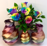 Rainbow Rose Vase Call For Availability