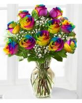Rainbow Rose Vase floral vase