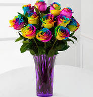 Rainbow Roses Available Sat. May 5th!