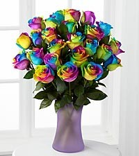 Rainbow Roses- local Delivery or