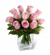Pink low & square Roses- compact design
