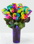 Rainbow Roses Require Special Order!