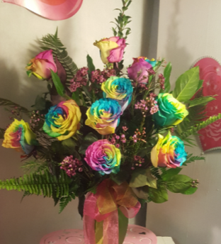 Rainbow of love  rose