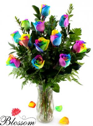 Rainbow Roses  Valentines Roses  in Trumann, AR | Blossom Events & Florist