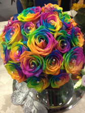 Rainbow Roses  You definitely will find the pot of gold at the end of this rainbow